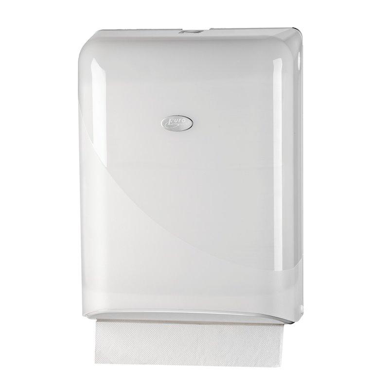 Handdoekdispenser Euro Mini Fold Pearl White Horecavoordeel.com