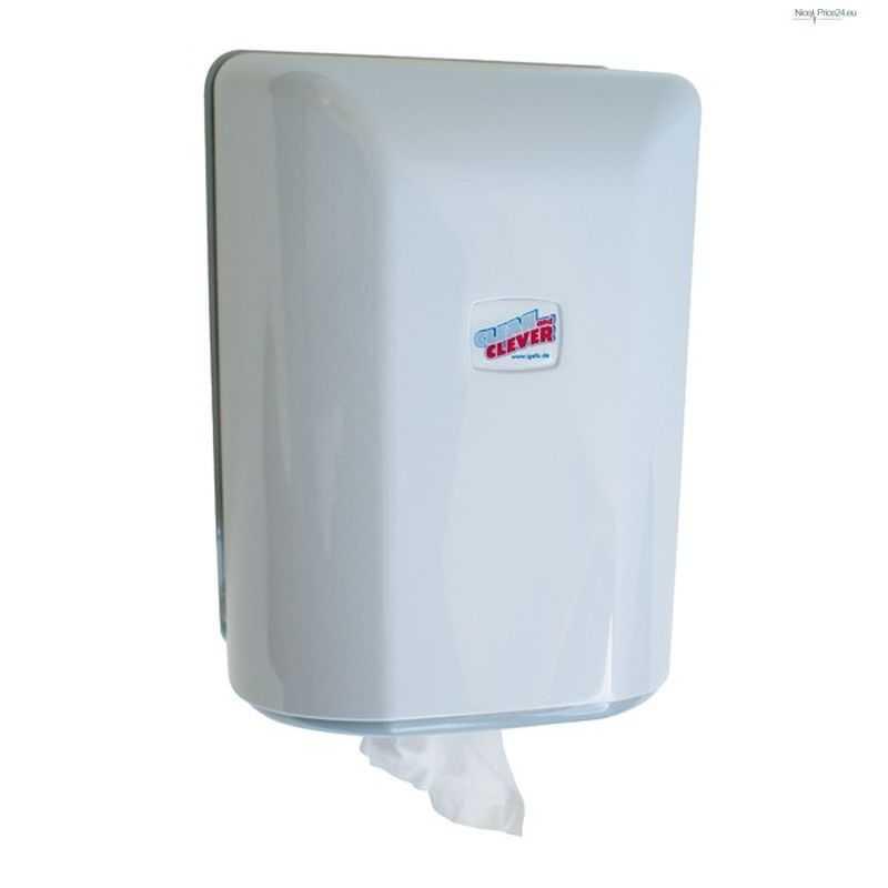 Paper Roll Dispenser Midi Eco406 White With View window - Horecavoordeel.com