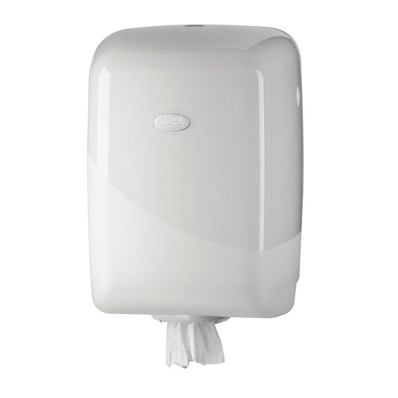 Paper Roll Dispenser Midi Euro Pearl White - Horecavoordeel.com