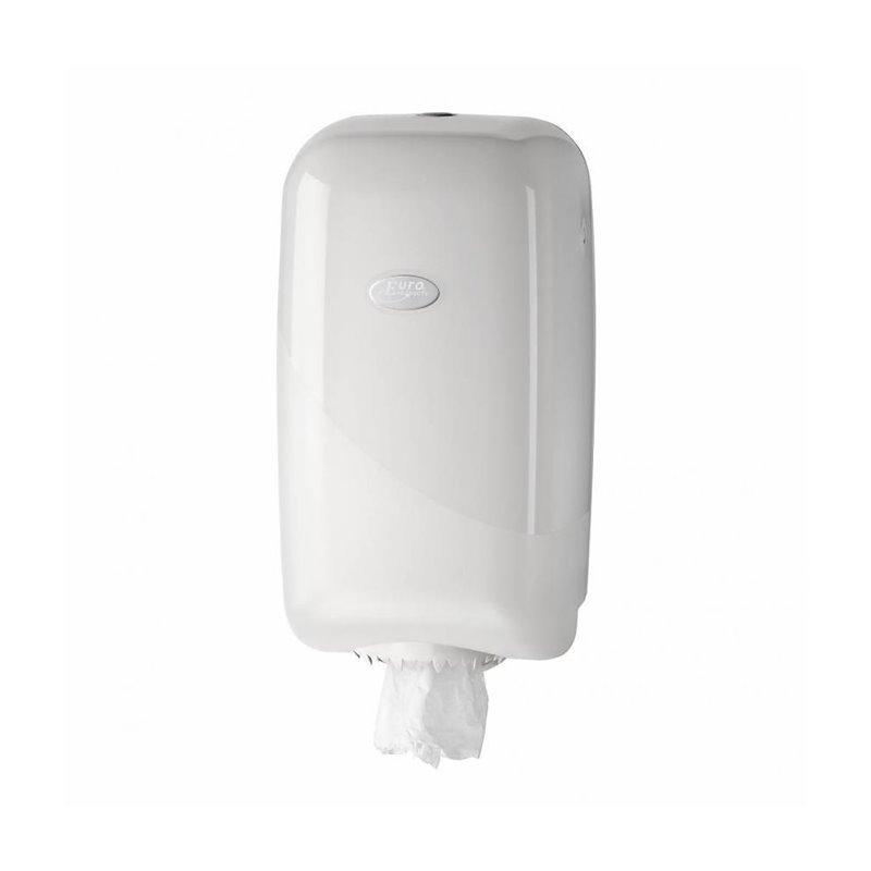 Paper Roll Dispenser Mini Euro Pearl White - Horecavoordeel.com
