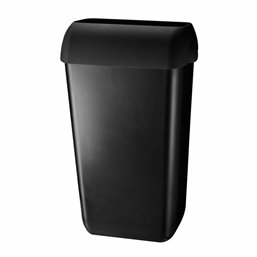 Garbage bin 23l + wall mount Euro 225x337x560mm Pearl Black