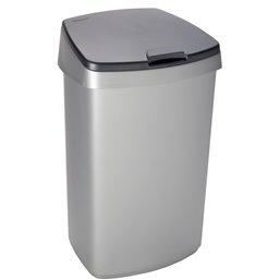 Afvalbak Curver Grijs 45 Liter Met Deksel