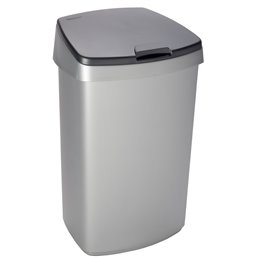 Garbage bin Curver Grey 45 Liter With a lid