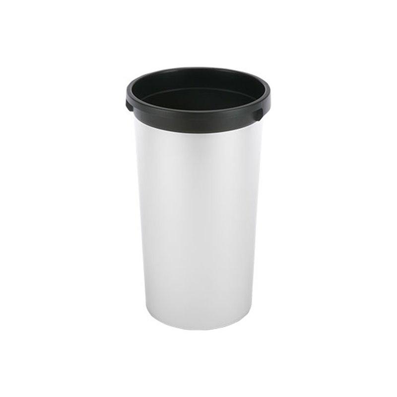 Garbage bin Round Vileda Iris Metalic-Black 50 Liter - Horecavoordeel.com