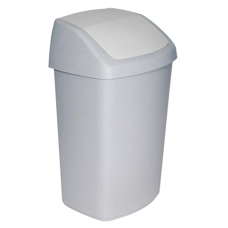 Garbage bin Curver Swing Fix White 50 Liter - Horecavoordeel.com