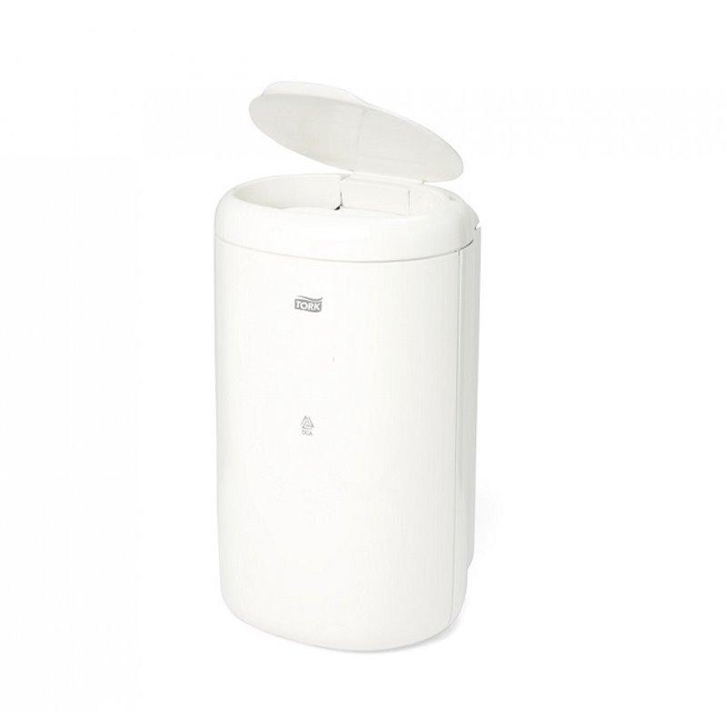 Garbage bin Tork 5 Liter With a lid White - Horecavoordeel.com