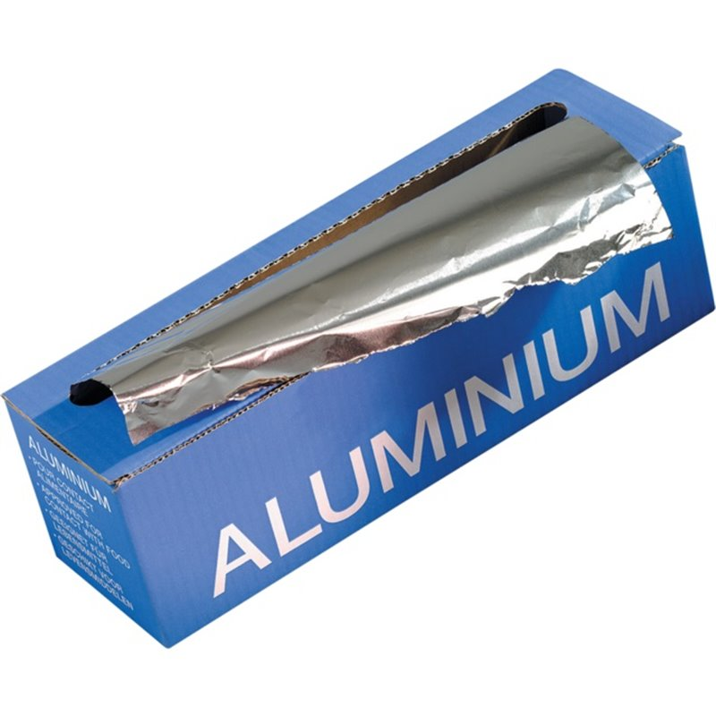 Aluminium Foil 30cm 14my 1,6kg blue box Cutterbox Foil Roll holder - Horecavoordeel.com