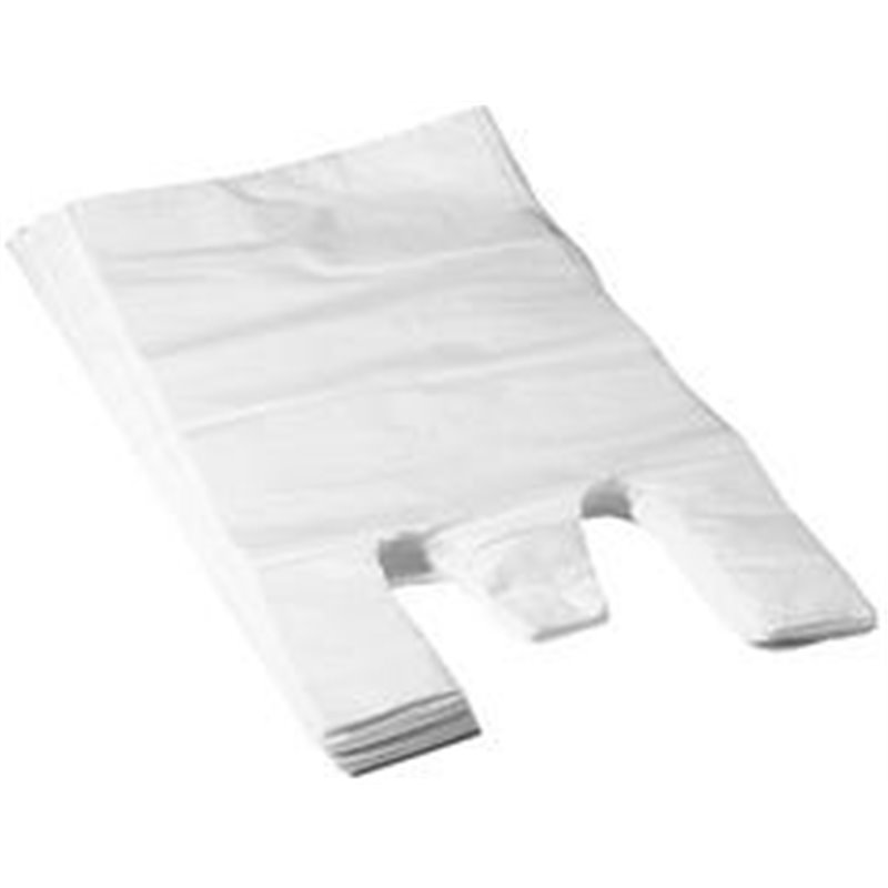 Shirt bag White 27+2x6x48cm12my - Horecavoordeel.com