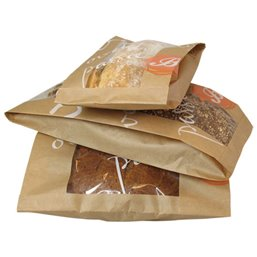 Baguette bags With Window Printed 34cm