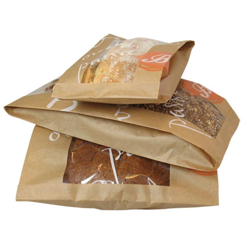 Baguette bags With Window Printed 58cm - Horecavoordeel.com