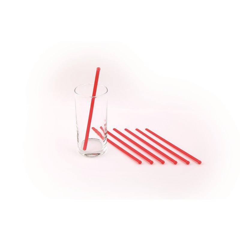 Stirring rod red 165mm (Small package) - Horecavoordeel.com