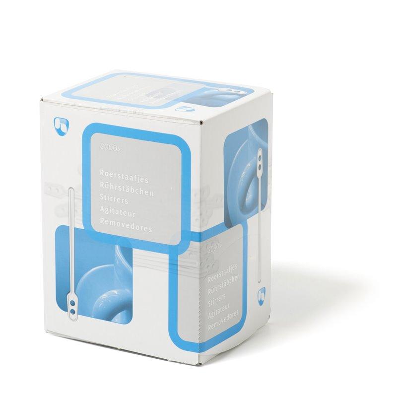 Roerstaafjes Plastic Wit 110mm (Klein-verpakking) Horecavoordeel.com