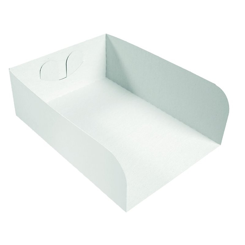 Insert Cardboard White 1 pond 175x130x60mm - Horecavoordeel.com