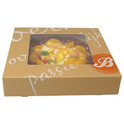 Pastry Boxes With Window Printed with Delicious 19x19x5cm