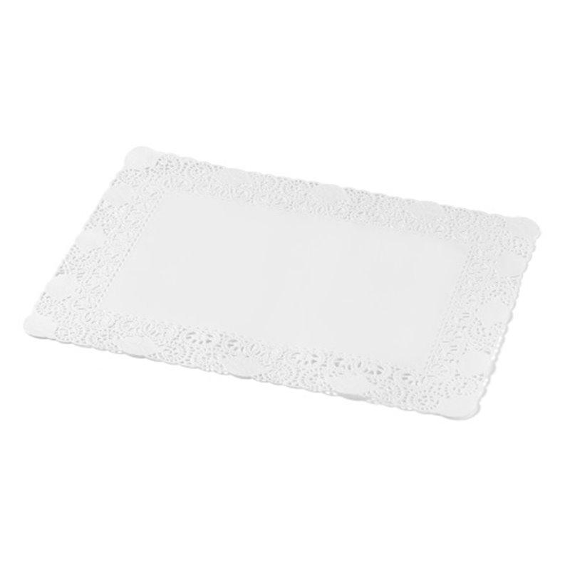 Taartranden Cellulose Wit Rechthoek 300 x 400mm (Klein-verpakking) Horecavoordeel.com