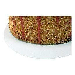 Cake cardboard round 26cm White