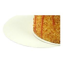 Cake cardboard round 20cm Gold