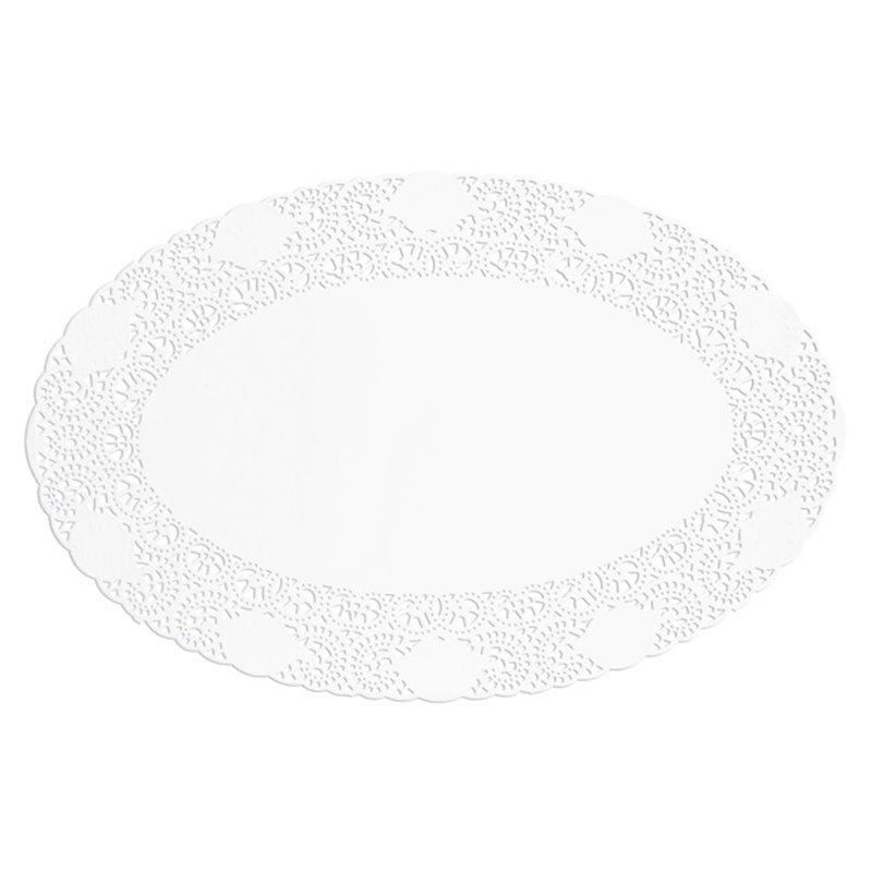 Taartranden Cellulose Ovaal Wit 240 x 170mm Horecavoordeel.com