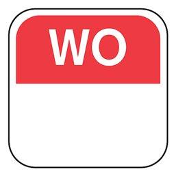 Dagstickers Woensdag 25 x 25mm Rood Verwijderbaar Horecavoordeel.com