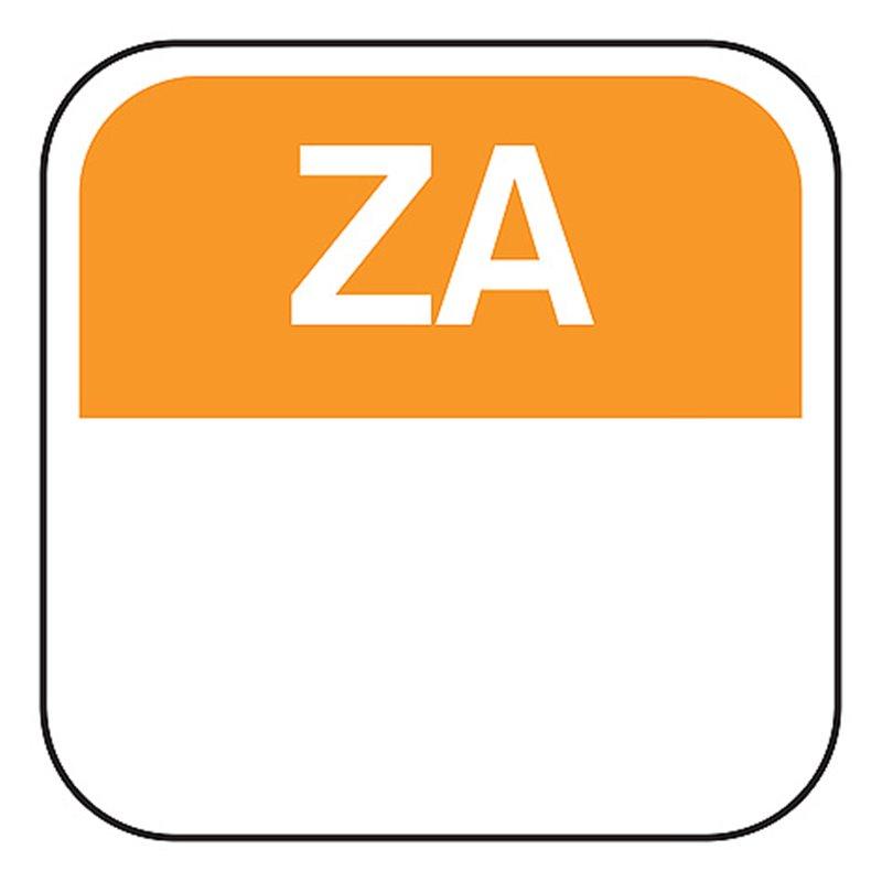 Day labels Saturday 25x25mm Orange Removable - Horecavoordeel.com