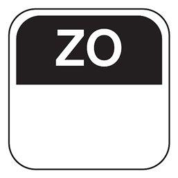 Dagstickers Zondag 25 x 25mm Zwart Verwijderbaar Horecavoordeel.com