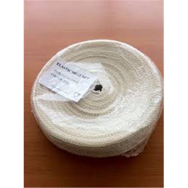 Rollade Braadnetten Polyester 4 knoops Wit 16 meter x 50mm Horecavoordeel.com