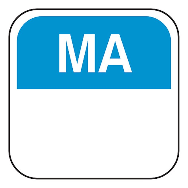 Day labels Monday 19x19xmm Blue-Blank  - Horecavoordeel.com
