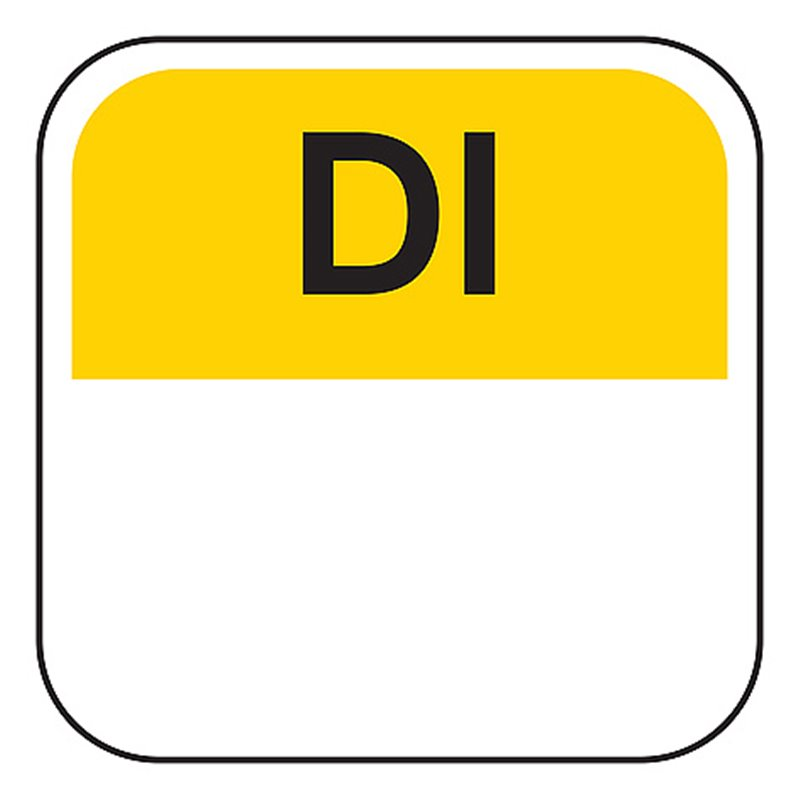 Day labels Tuesday 19x19mm Yellow-Black - Horecavoordeel.com