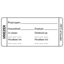 Day labels Freezer 35x75mm White Deep-freeze gluing