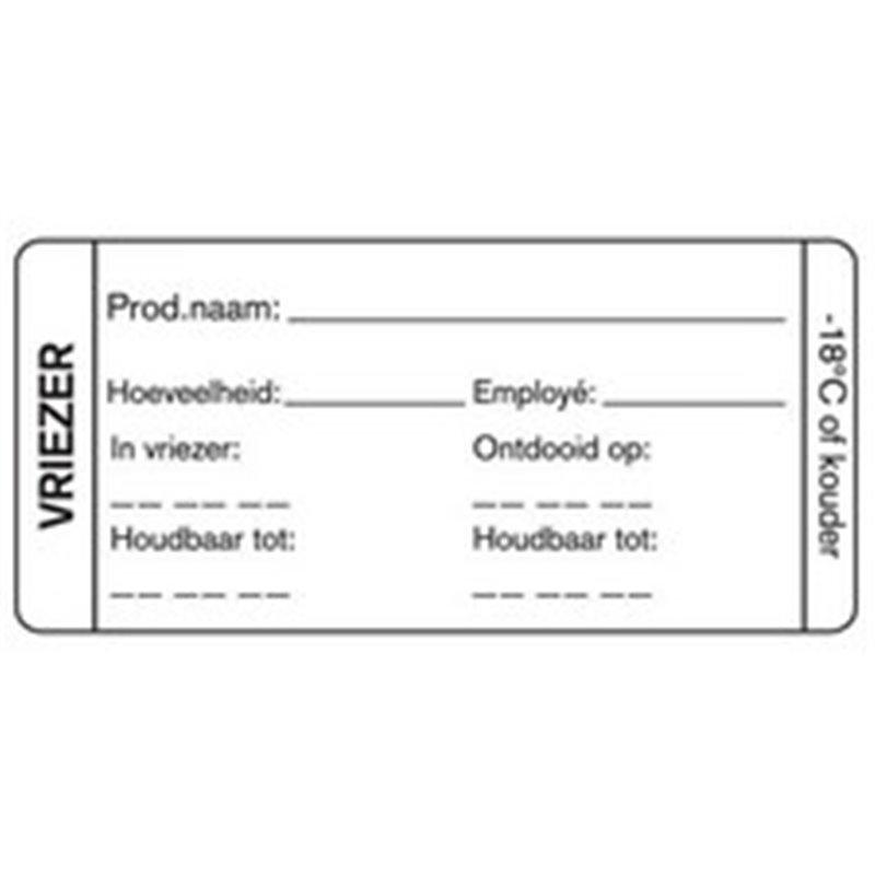 Day labels Freezer 35x75mm White Deep-freeze gluing  - Horecavoordeel.com