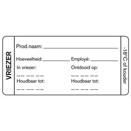 Day labels Freezer Blank 75x35mm