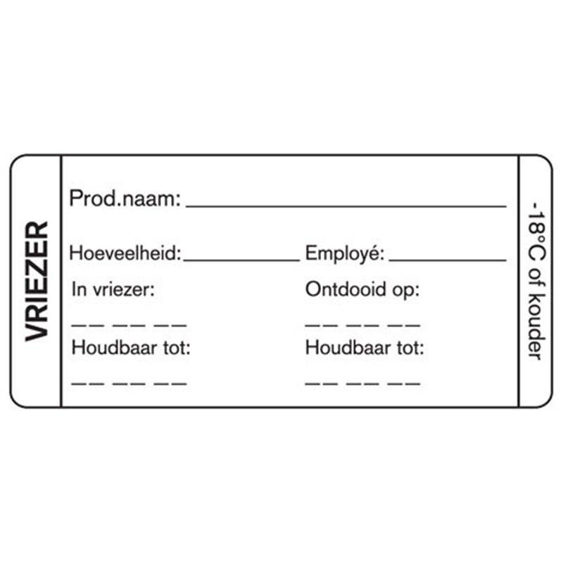 Day labels Freezer Blank 75x35mm - Horecavoordeel.com