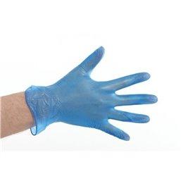 Gloves Vinyl Blue no powder Small (Small package) - Horecavoordeel.com
