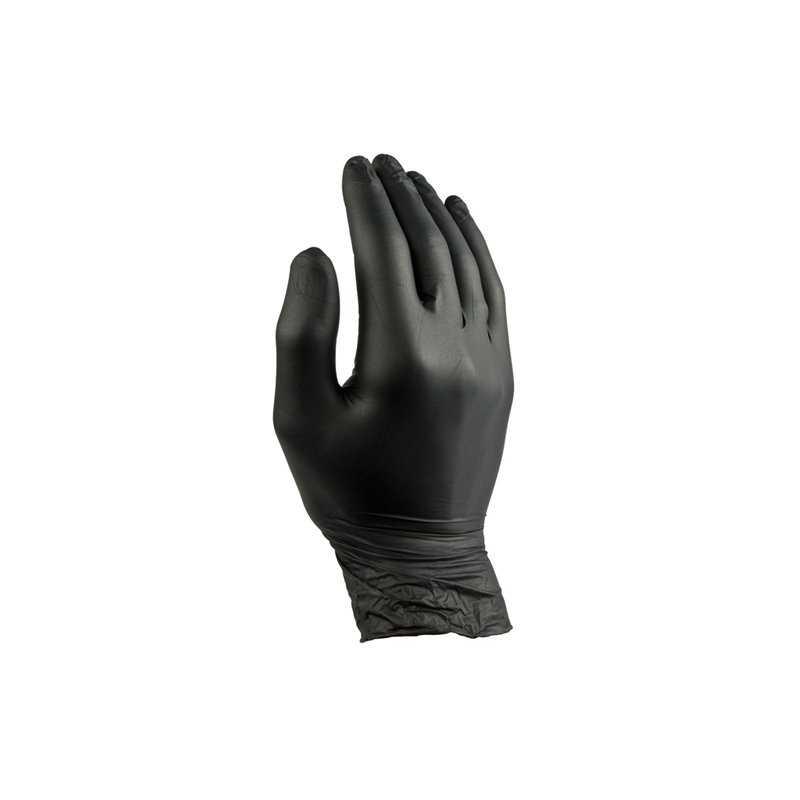 Handschoenen Nitril Zwart Poedervrij Medium Pro Horecavoordeel.com