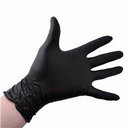 Handschoenen Nitril Zwart Poedervrij Large Pro