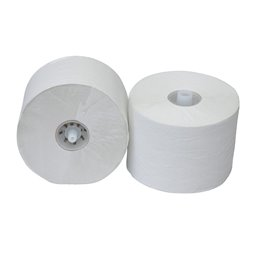 Toilet paper Cap Rolle 2 Layers Tissue White (EM) 100m 725 Sheets