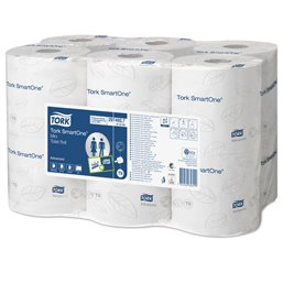 Toiletpapier Mini Smart One T9 2 Laags Wit 620 vel