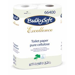 Toiletpapier Bulkysoft cellulose 150 vel 4 Laags Wit
