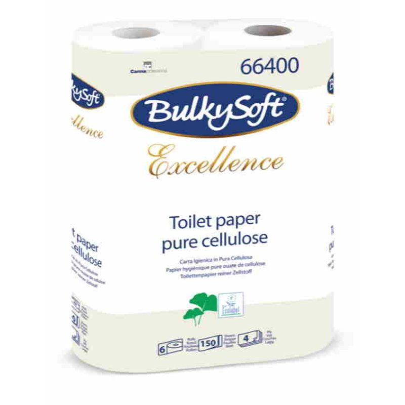 Toiletpapier Bulkysoft cellulose 150 vel 4 Laags Wit Horecavoordeel.com
