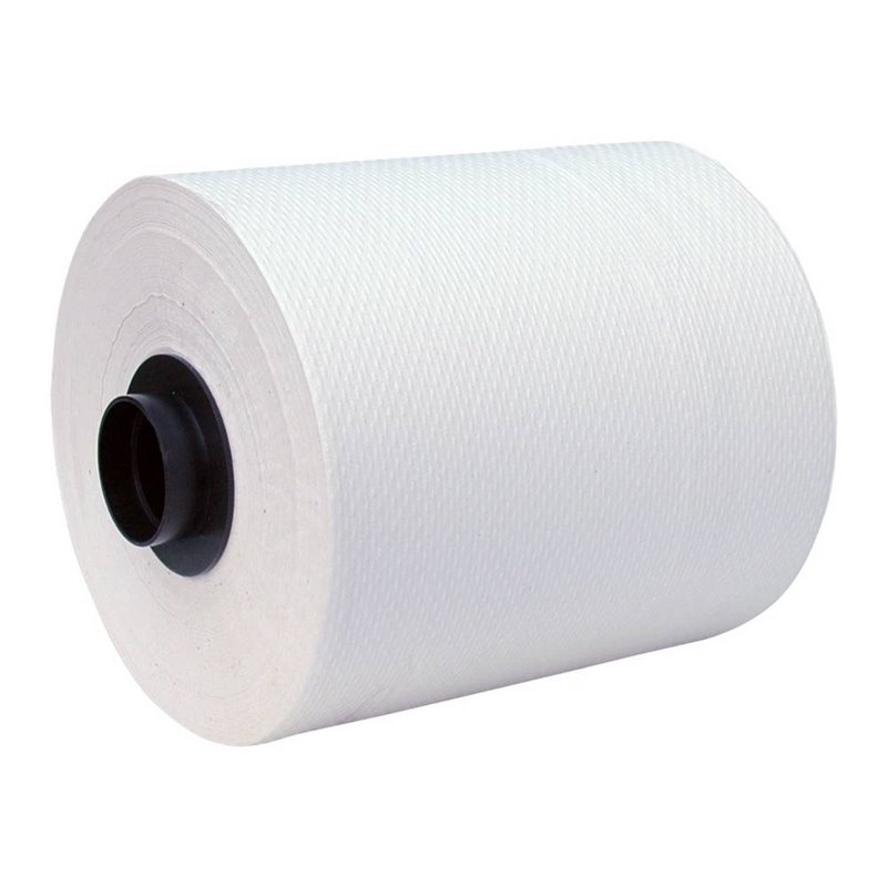 Roll towel Euromotion Cellulose 2 layer White 140m  - Horecavoordeel.com