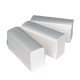Towel Mini-folded Cellulose (EM) 2 layer White - Horecavoordeel.com