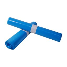 Trash bag 80x110cm 18my Blue (Small package) - Horecavoordeel.com