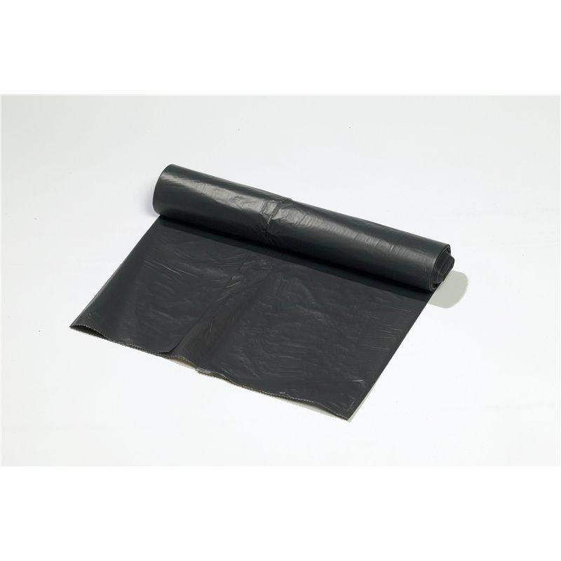 Trash bag 90x125cm 18my Black (Small package) - Horecavoordeel.com