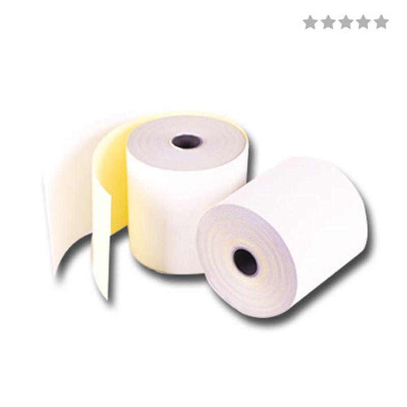 Kassa Duplo Rol Wit - Geel 76 x 70 x 12mm (Klein-verpakking) Horecavoordeel.com