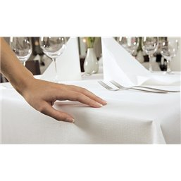 Tablecloth Duni Evolin White 127x127cm - Horecavoordeel.com