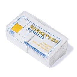 Napkins White 33x33cm 1 Layers 1-4 fold