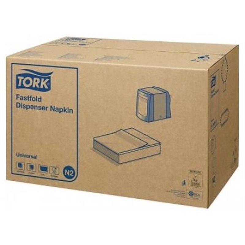 Dispenser Napkins White Tork N2 1 Layers 24x29cm - Horecavoordeel.com