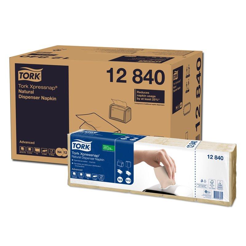 Dispenser Napkins Tork Xpressnap (12 840)1 Layers Crepe N4/n12 21,6x33cm - Horecavoordeel.com