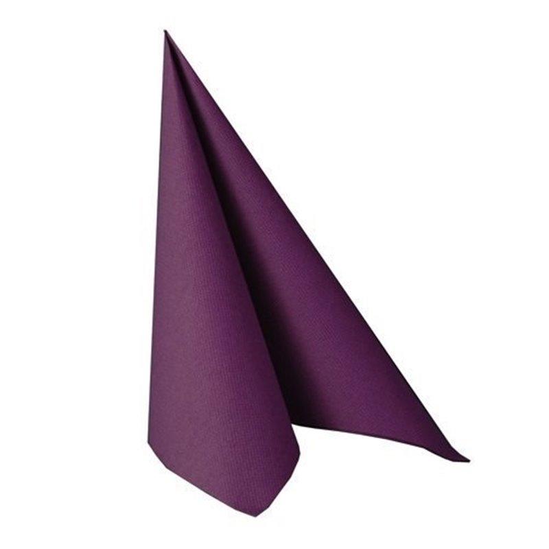 Napkins Purple 33x33cm 2 Layers 1-4 fold - Horecavoordeel.com