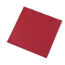 Napkins Red 33x33cm 2 Layers 1-4 fold Fasana